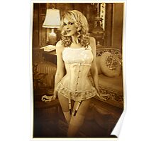 Jade in Antique Corset Poster