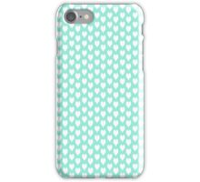 Polka dot love hearts white on pale blue iPhone Case/Skin