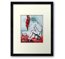 A Chair for My Heart please… - Thank you. Framed Print