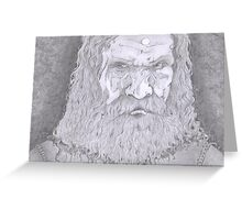 the dark wizard Greeting Card