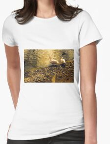 Two Duckies Womens Fitted T-Shirt