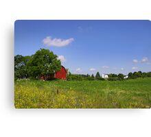 Barn And Farm Canvas Print