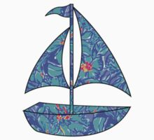 Lilly Pulitzer Inspired Sailboat Mai Tai Kids Clothes