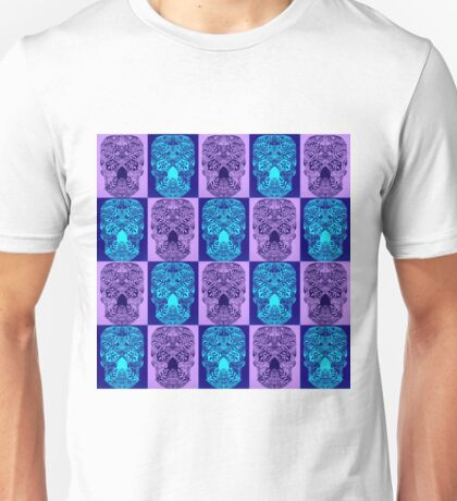 Purple Skull Fantasy Unisex T-Shirt