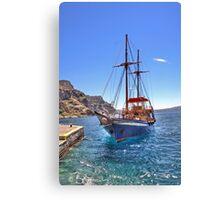 ..Greek adventures @ Santorini... Canvas Print