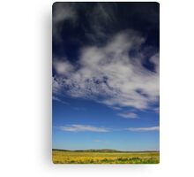 Landscape with clouds Canvas Print