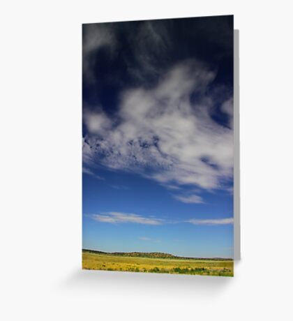Landscape with clouds Greeting Card
