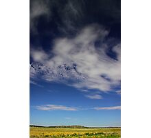 Landscape with clouds Photographic Print