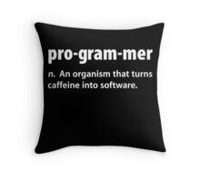 Funny Programmer Coffee T Shirt Throw Pillow
