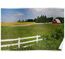 Farm landscape Poster