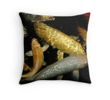 Koi 9 Throw Pillow