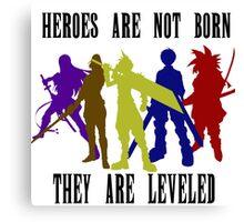 Legandary Heroes - Coloured Canvas Print