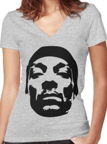 Snoop Dogg Black Design Women's Fitted V-Neck T-Shirt