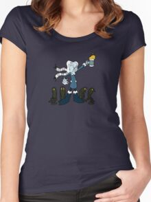 Don't Mess With the Professor Coldheart Women's Fitted Scoop T-Shirt