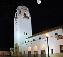 Boise Train Depot at Night by Jim Terry