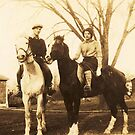 Charlie &amp; Isabel on Horseback, ca. 1930 by artwhiz47