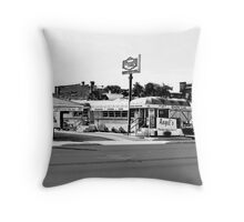 09-115 ~ Angel's Diner - Oldest in Florida Throw Pillow