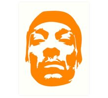 Snoop Dogg Orange Design Art Print