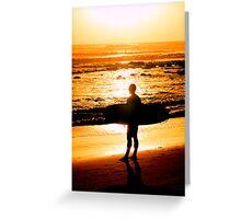 Surfer - Sunrise at Alexander Headlands Greeting Card