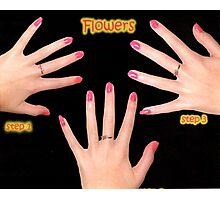 simple nail flower design Photographic Print