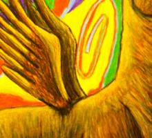 The Flying Llama Dude Sticker