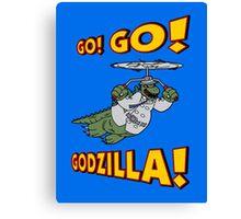 Go Go Godzilla! Canvas Print