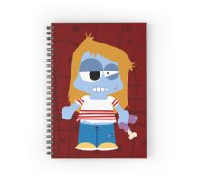 Zombie Girl Spiral Notebook