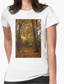 Autumn Forest Glow - Impressions Of Fall Womens Fitted T-Shirt