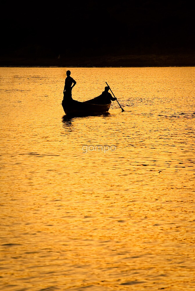 on golden waters by gompo
