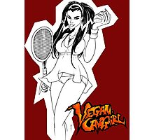 Vegan Cave Girl Tennis Photographic Print