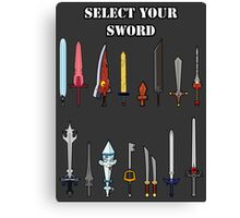 Select Your Sword Canvas Print