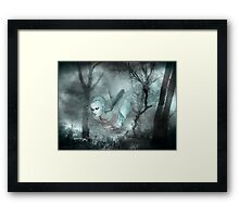 In the dark of the night .. a ghost tale Framed Print