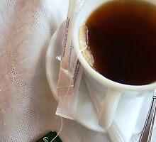 a cup of tea. by Alexandra Brovco
