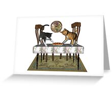 Those Naughty Cats .. Febuary Greeting Card