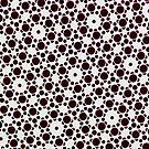 Silicon Atoms Black White by atomicshop