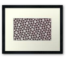 Silicon Atoms Black White Framed Print
