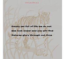 Nature-Haiku Challenge Entry Photographic Print