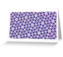 Silicon Atoms Blue White Greeting Card