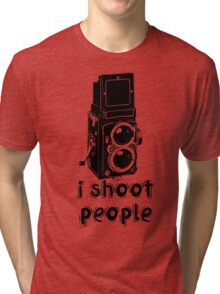 TLR Camera - I Shoot People Photography T Shirt Tri-blend T-Shirt