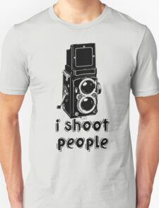 TLR Camera - I Shoot People Photography T Shirt T-Shirt