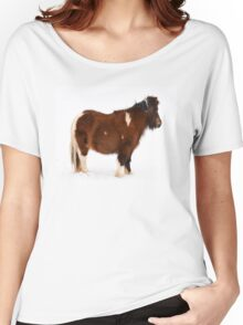 Pony in the Snow Women's Relaxed Fit T-Shirt