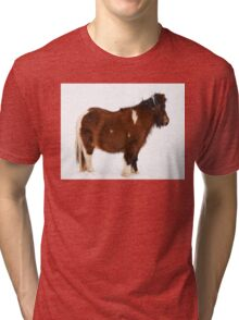 Pony in the Snow Tri-blend T-Shirt