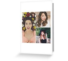 zoe sugg zoella collage Greeting Card