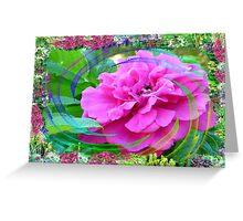 Rose Swirl In My Flower Garden Greeting Card