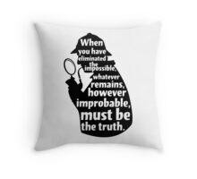 Sherlock Holmes Quote T Shirt Throw Pillow