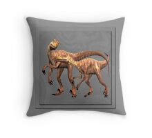 Raptors on the Hunt Throw Pillow