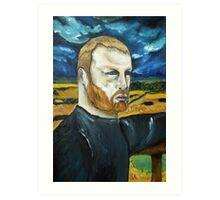 Paul - storm over the farm Art Print