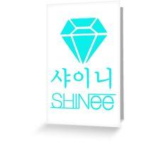 Shinee Blue Diamond Greeting Card