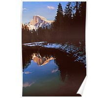 REFLECTION OF HALF DOME IN MERCED RIVER Poster