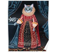 Lady Tabitha Silverly Elizabethan Cat Poster